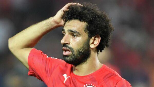 Нападающий сборной Египта Мохамед Салах