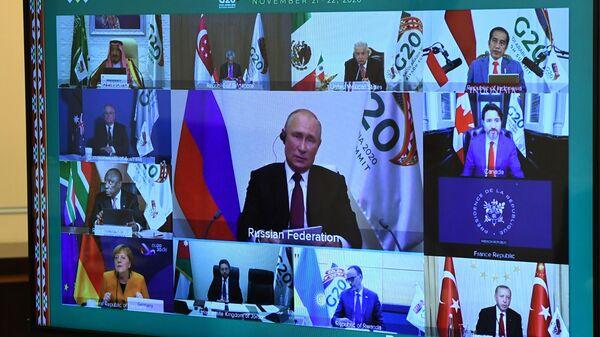 Участники саммита Группы двадцати в режиме видеоконференции