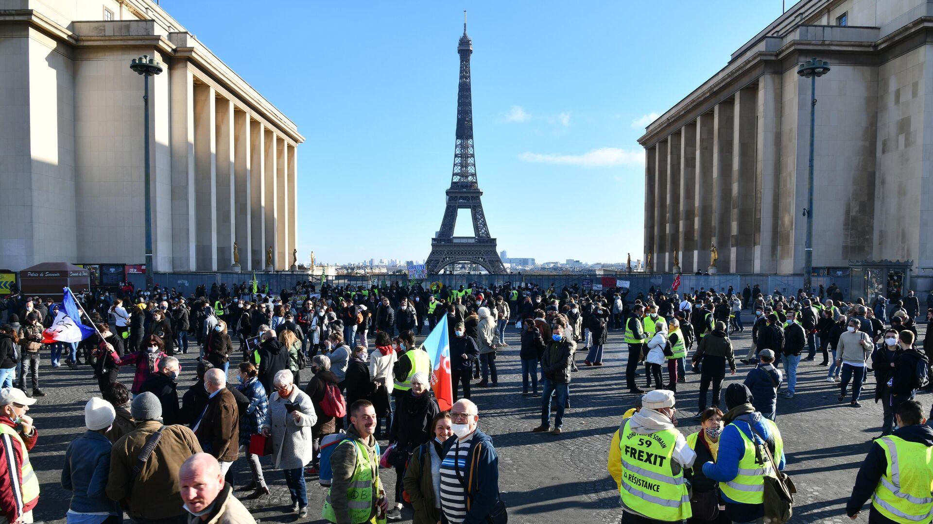Акция протеста в Париже - РИА Новости, 1920, 21.11.2020