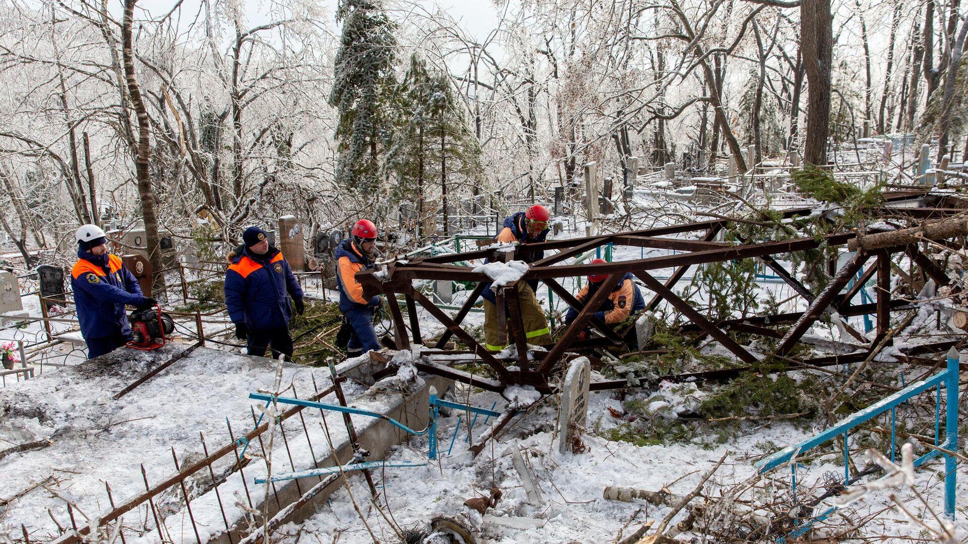 Последствия снежного циклона в Приморье - РИА Новости, 1920, 25.11.2020