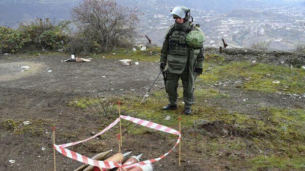 Специалист Международного противоминного центра Минобороны России в Карабахе