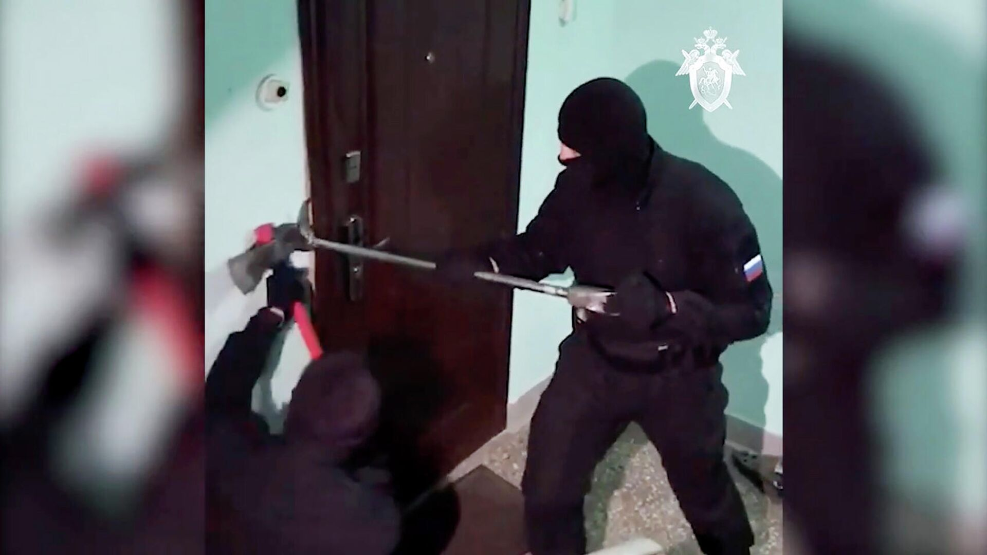Кадр видео спецоперации по делу Свидетелей Иеговы* - РИА Новости, 1920, 04.03.2021