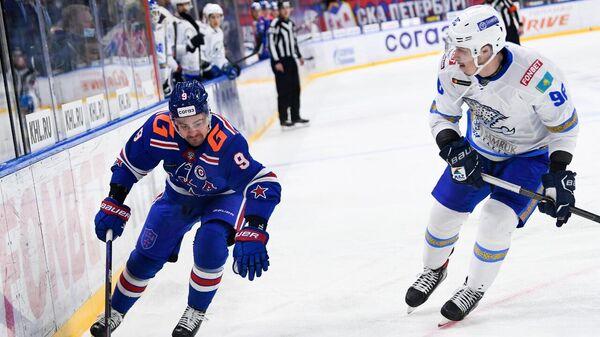 ХК СКА — Барыс в матче регулярного чемпионата ХКЛ