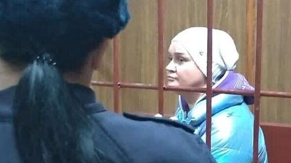 Антонина Саввидес, обвиняемая в вымогательстве денег у шоумена Сергея Глушко, на заседании Таганского суда