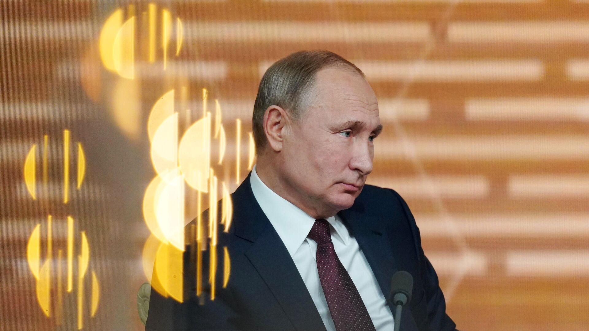 Президент РФ Владимир Путин на большой ежегодной пресс-конференции - РИА Новости, 1920, 27.11.2020