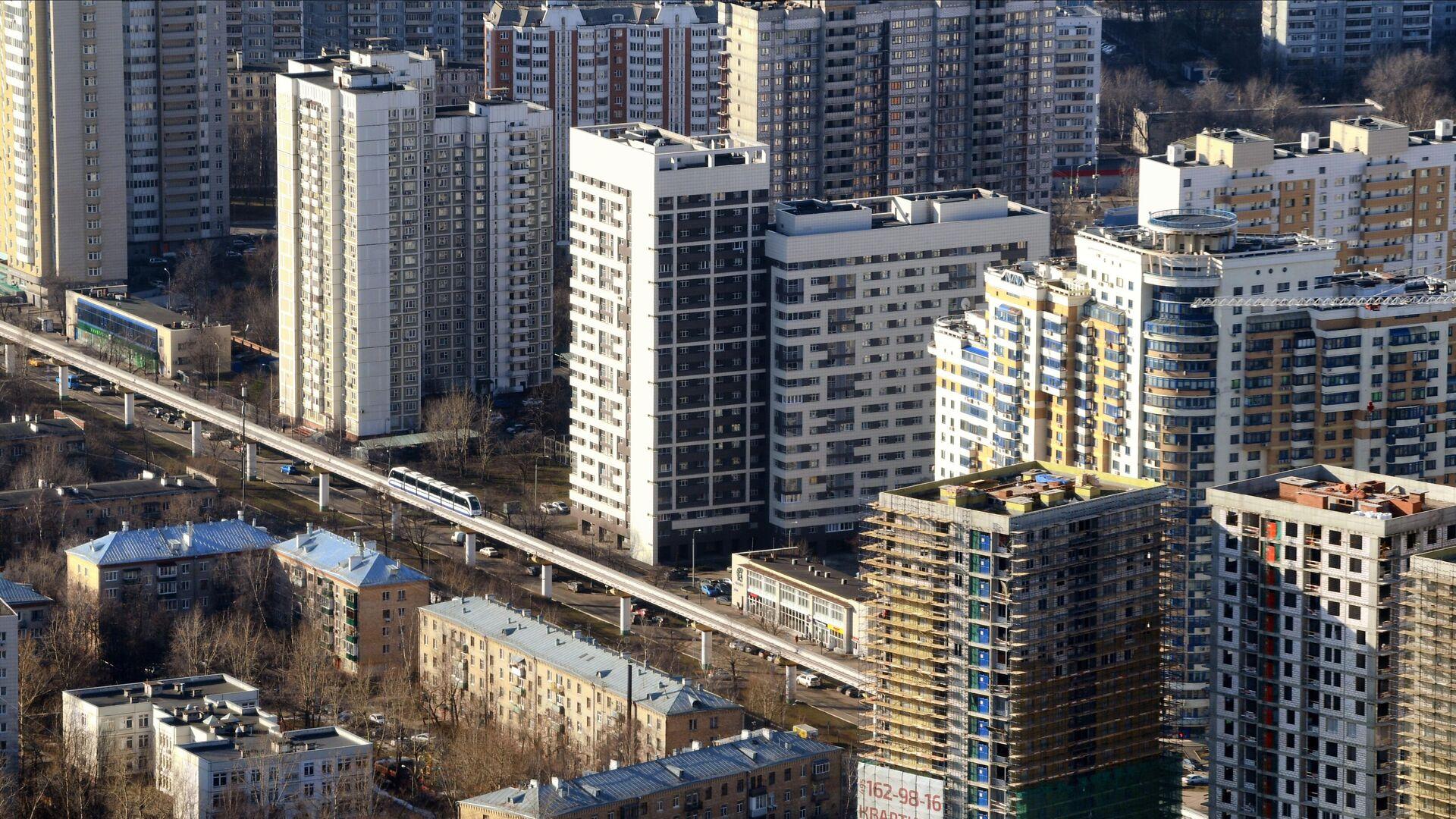 Жилые дома в Москве  - РИА Новости, 1920, 25.01.2021