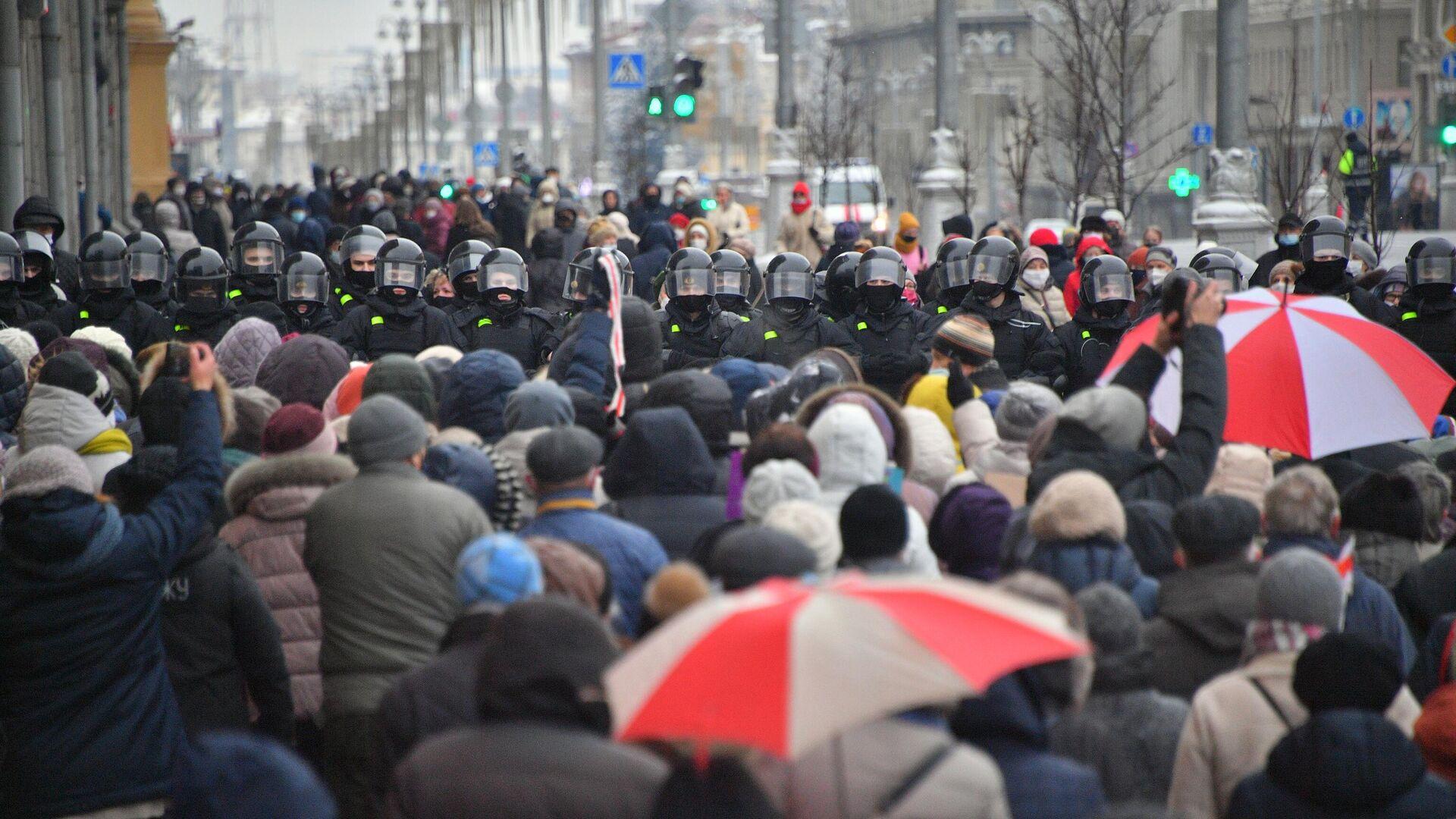 Участники акции протеста пенсионеров Марш мудрости в Минске - РИА Новости, 1920, 04.01.2021