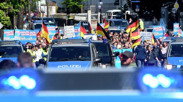 Сторонники партии Альтернатива для Германии в Эрфурте
