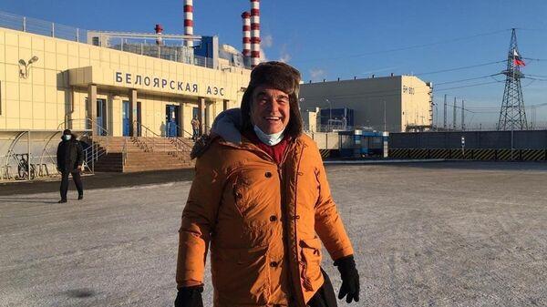 Кинорежиссёр, сценарист и продюсер Оливер Стоун возле Белоярской атомной электростанции