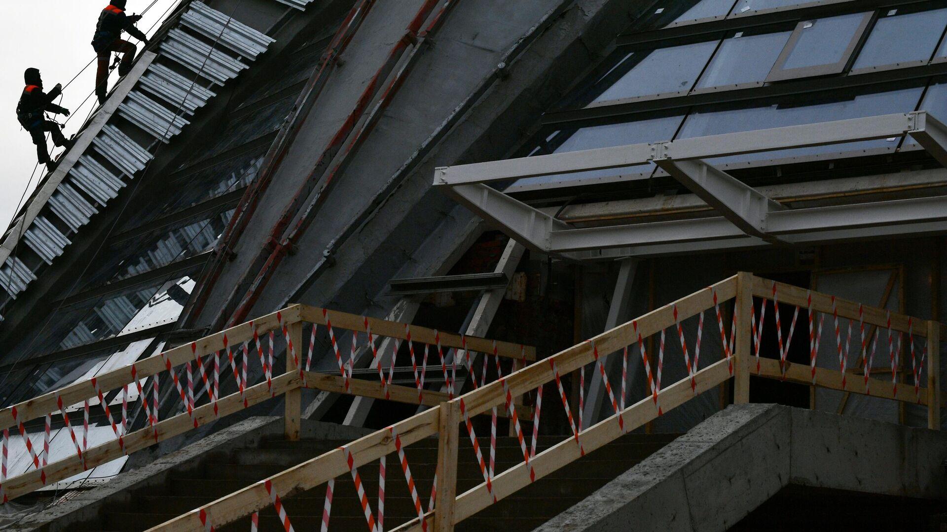 Строительство спортивных объектов в Лужниках - РИА Новости, 1920, 02.04.2021