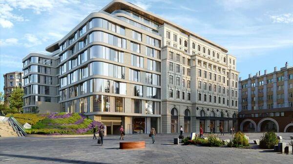 Проект отеля Raffles на улице Варварка в Москве