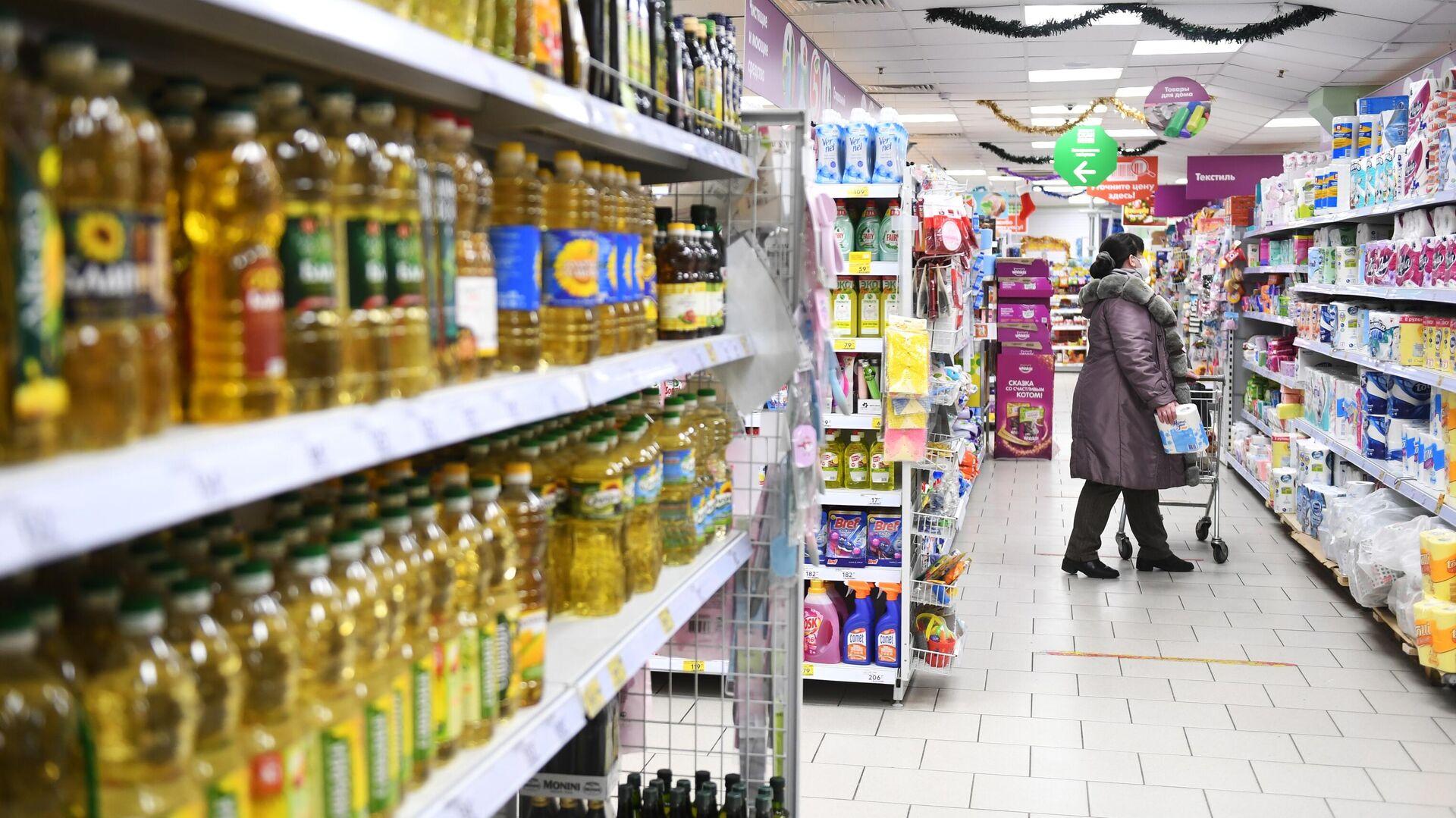 Правительство установит предельные цены на сахар и подсолнечное масло - РИА Новости, 1920, 02.01.2021