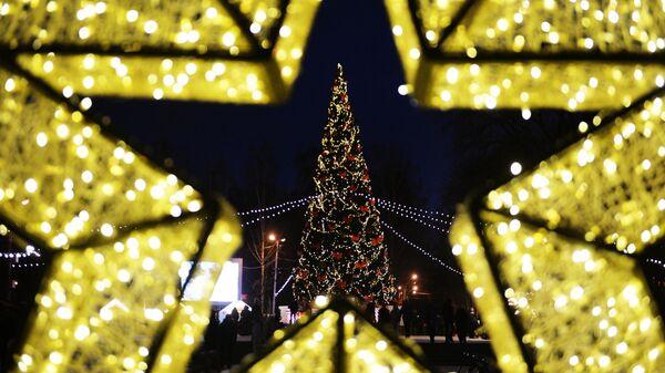 Новогодняя ель в Екатеринбурге