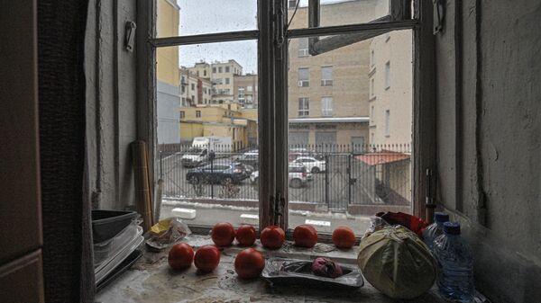 Вид из окна дома радиоастронома Владимира Заболотного в Нововаганьковском переулке в Москве