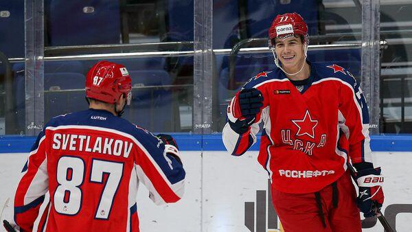 Хоккеист ЦСКА Николай Голдобин