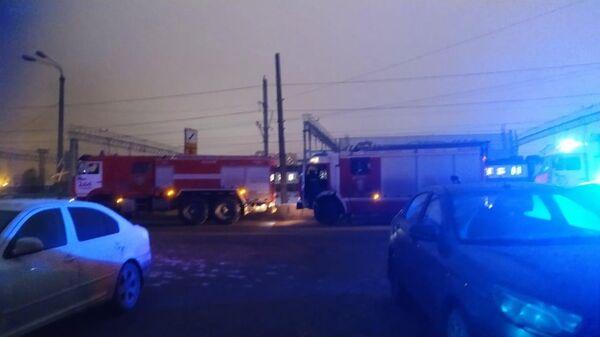 Пожар в нежилом здании в подмосковном Одинцове