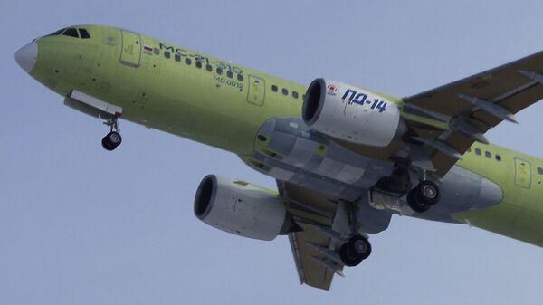 Первый полет МС-21-310 с новыми российскими двигателями