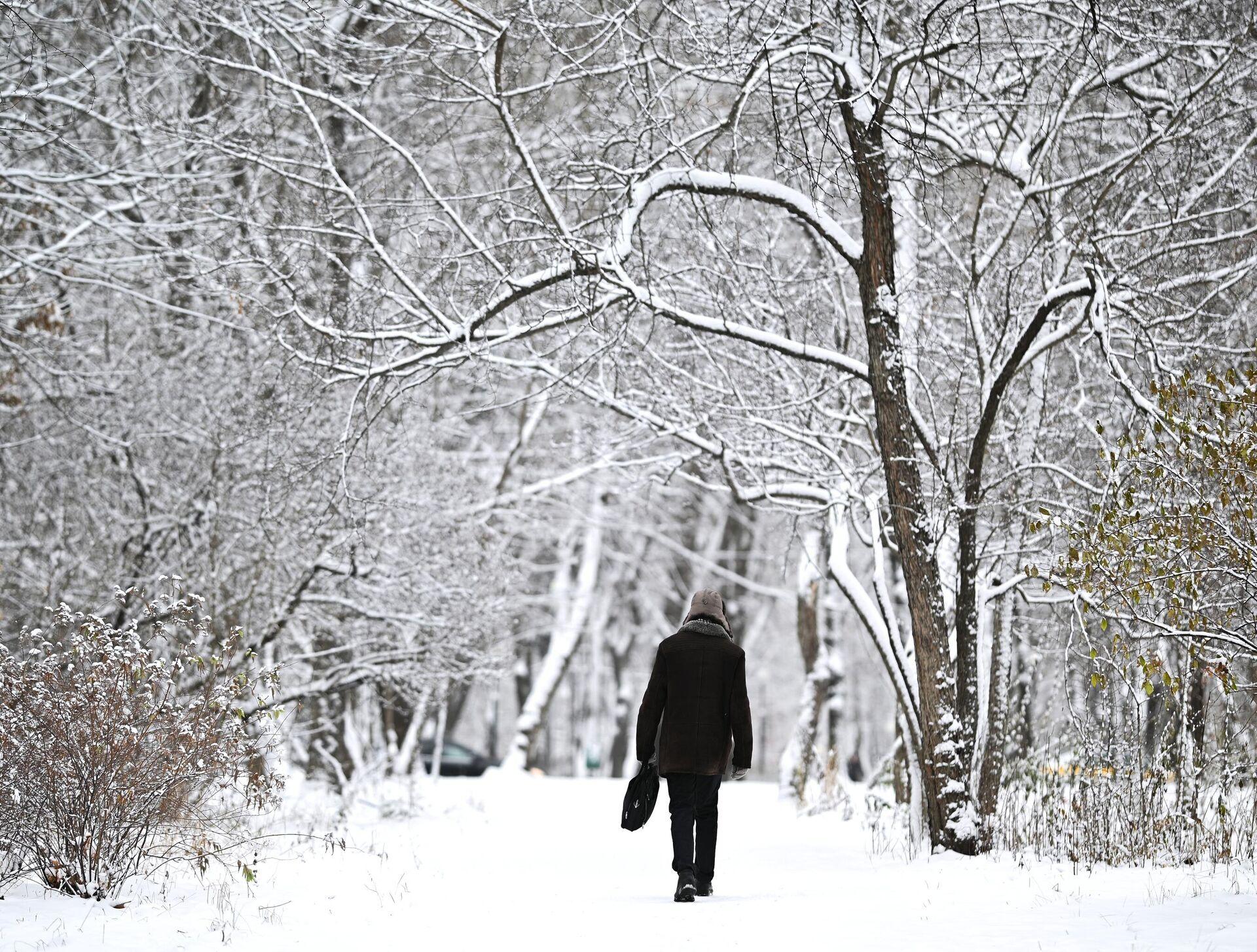 Снег в Москве - РИА Новости, 1920, 15.12.2020