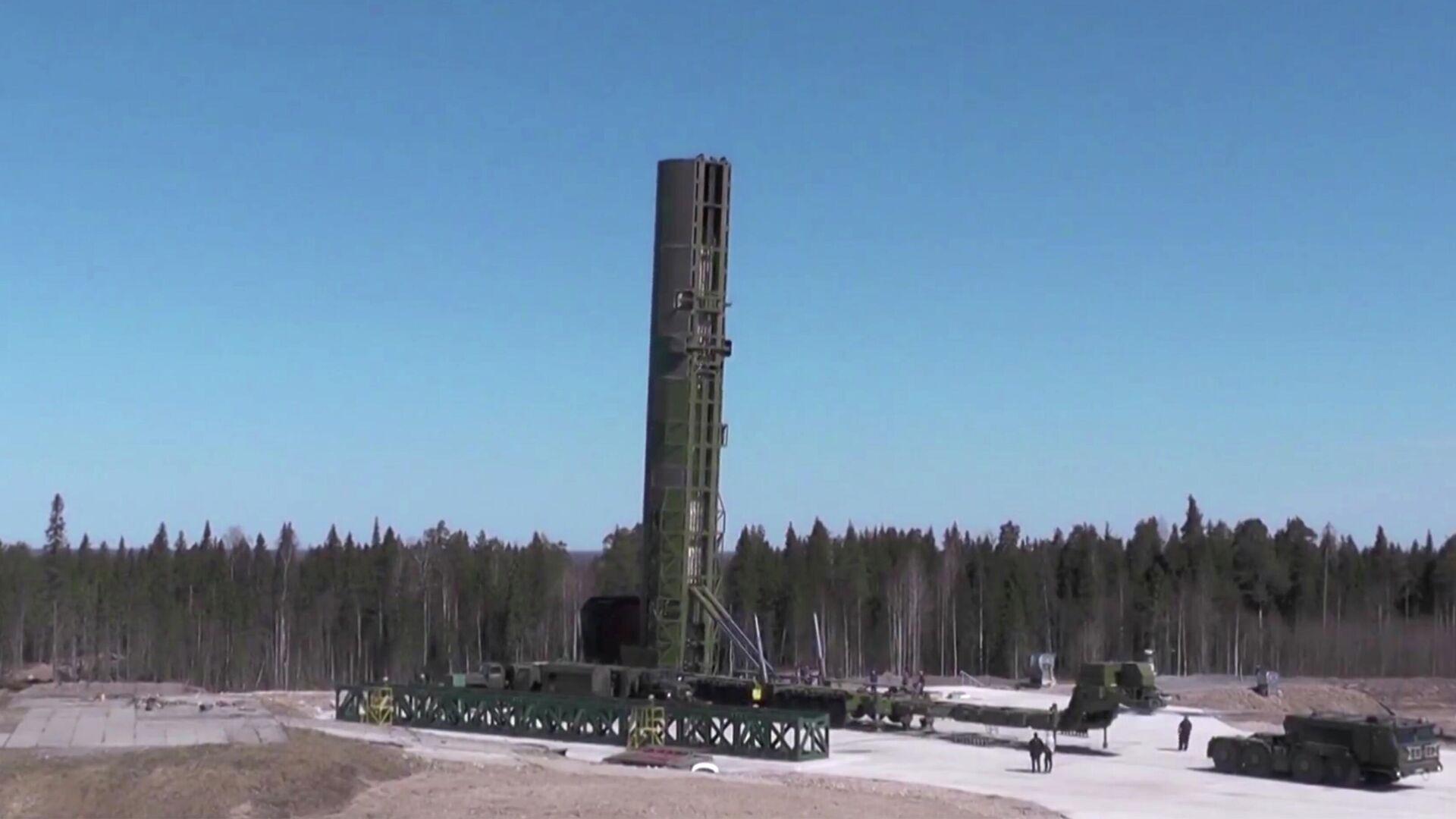 Испытание баллистической ракеты Сармат - РИА Новости, 1920, 28.06.2021
