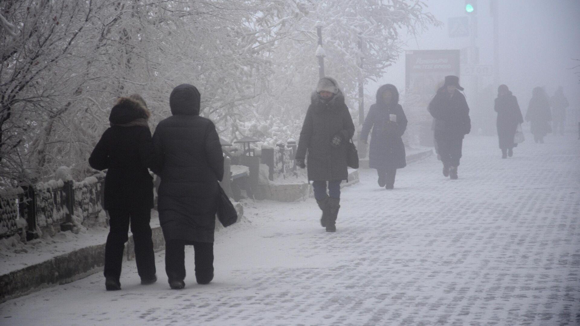 Прохожие на улице Якутска - РИА Новости, 1920, 25.01.2021