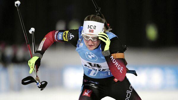 Биатлонистка Марте Олсбю-Ройселанн (Норвегия)
