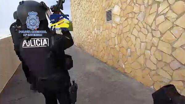 Кадр оперативного видео Национальной полиции Испании