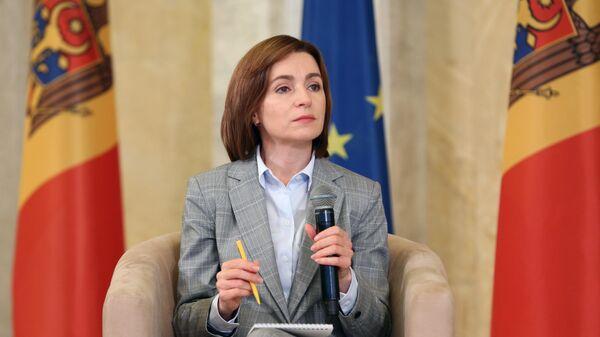 Пресс-конференция избранного президента Молдавии М. Санду