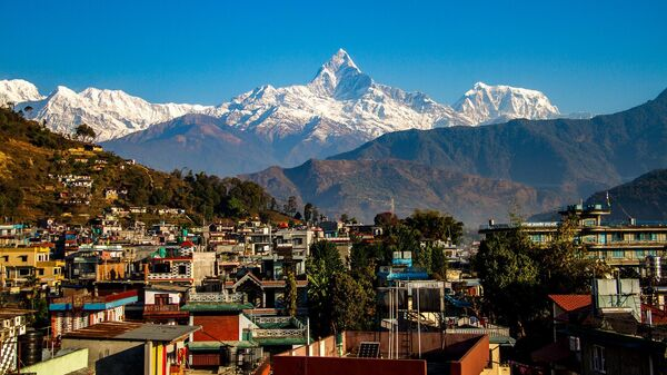 Гора Покхара в Непале