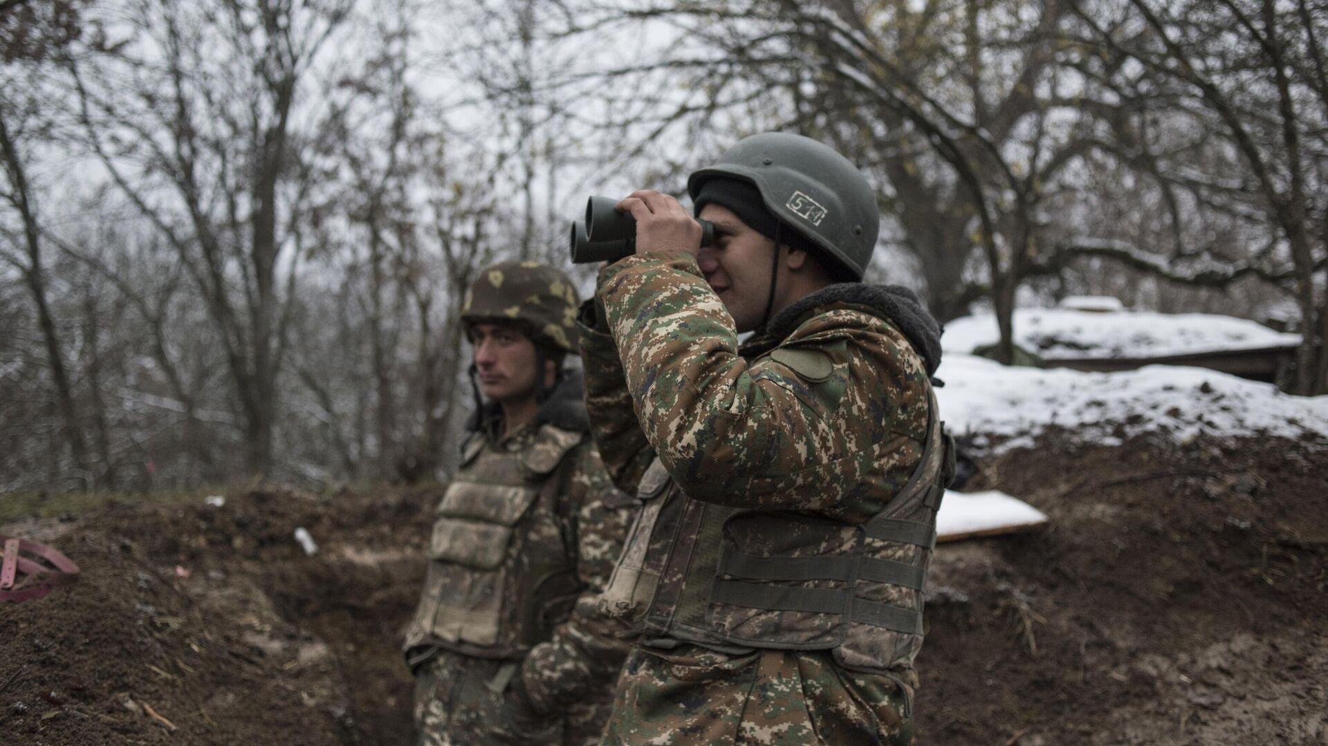 Военнослужащие армии обороны непризнанной Нагорно-Карабахской республики - РИА Новости, 1920, 27.02.2021