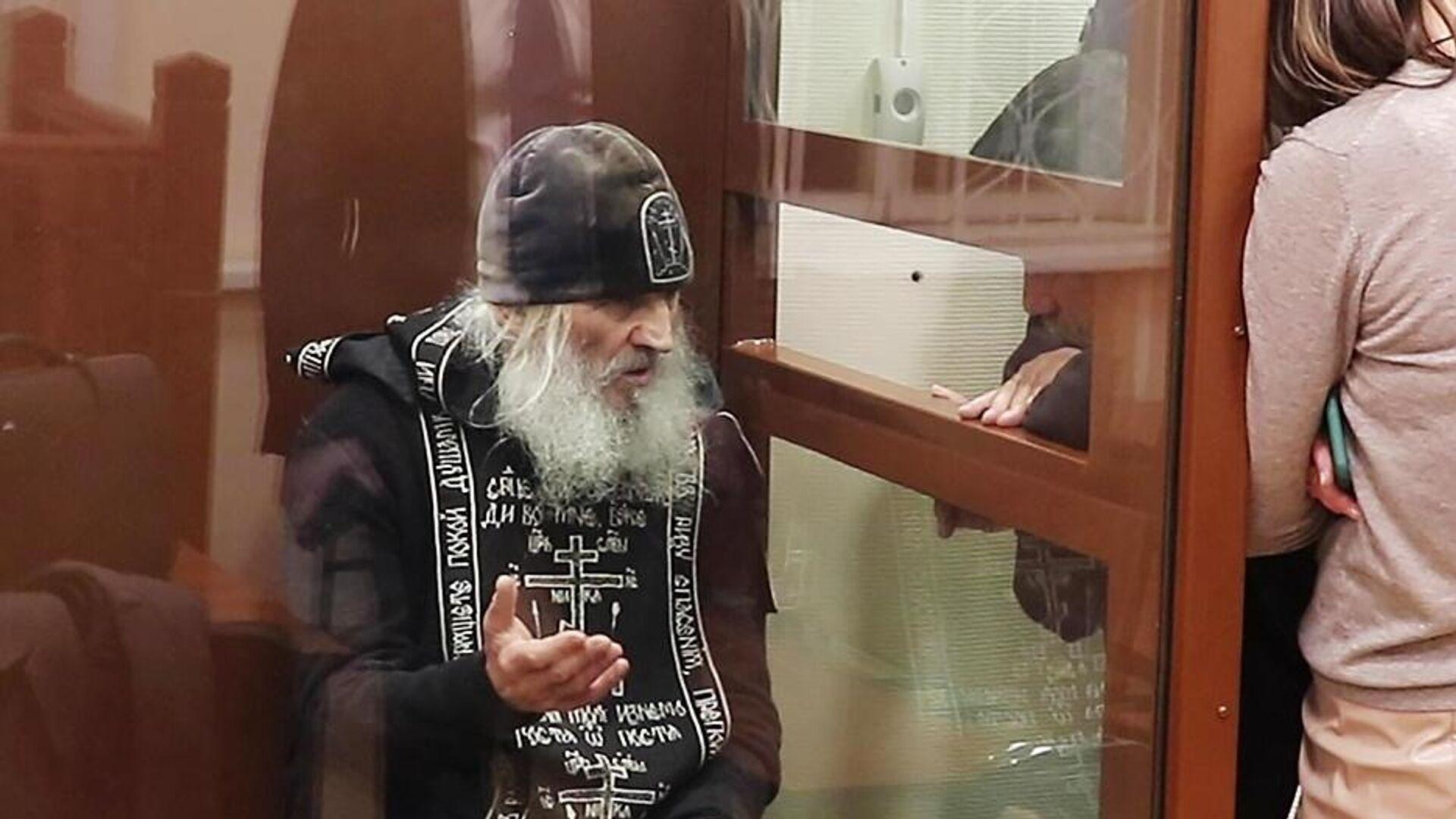 Бывший схимонах Сергий (Николай Романов) в Басманном суде Москвы - РИА Новости, 1920, 21.02.2021