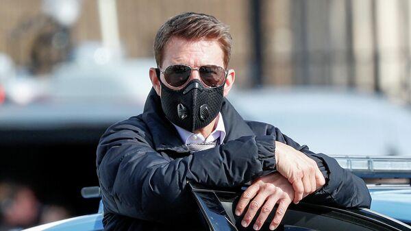 Американский актер Том Круз во время съемок фильма Миссия невыполнима 7 в Риме, Италия