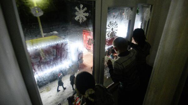 Рождественский караван Coca-Cola в Новгородской области