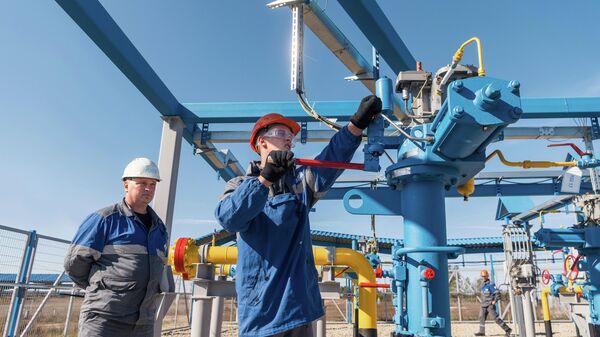 Участок газопровода Сила Сибири