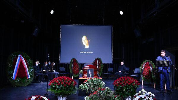 Церемония прощание с народным артистом России Владимиром Кореневым в электротеатре Станиславский