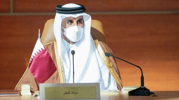4-й эмир Катара Тамим бин Хамад Аль Тани на 41-м саммите Совета сотрудничества арабских государств Персидского залива в Саудовской Аравии