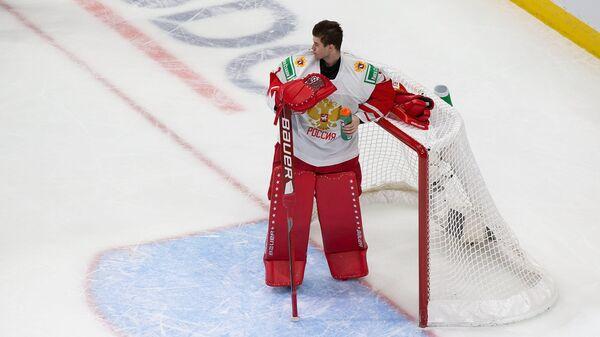 Вратарь молодежной сборной России Ярослав Аскаров