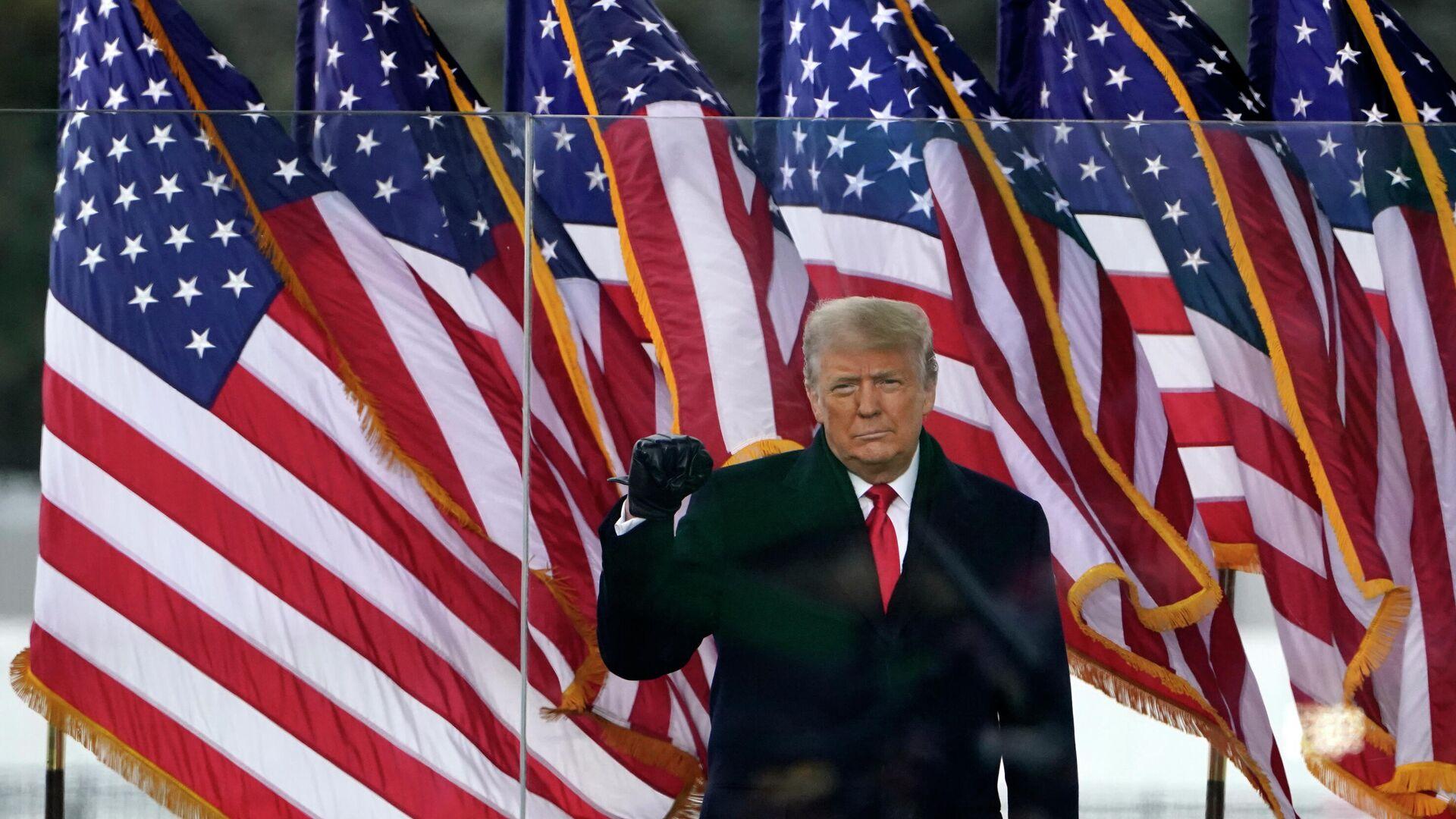 Президент Дональд Трамп выступает на митинге в Вашингтоне - РИА Новости, 1920, 20.01.2021