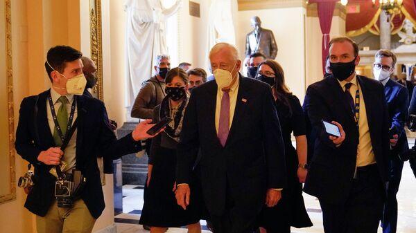 Лидер большинства в Палате представителей Конгресса США демократ Стени Хойер в Кэпитал-Хилл, Вашингтон
