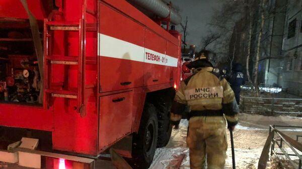 В Кировской области сгорела школа