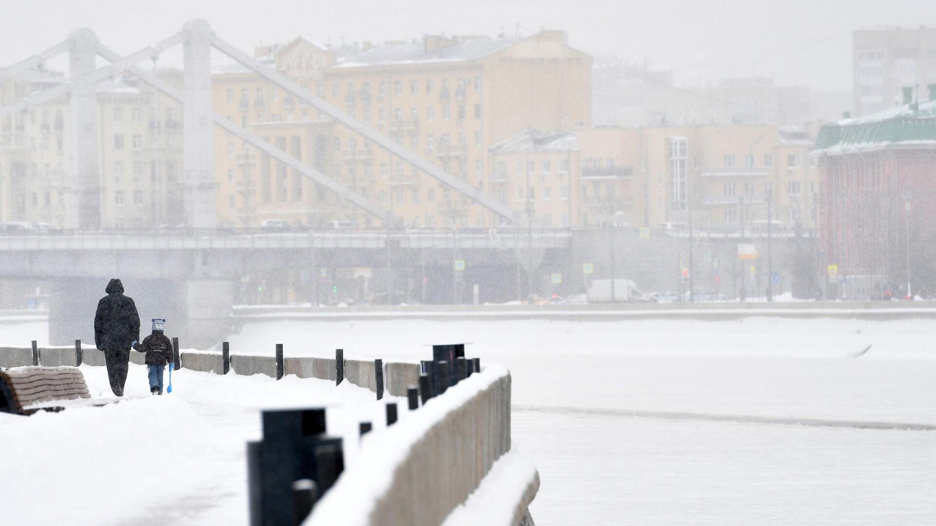 Снегопад в Москве - РИА Новости, 1920, 06.03.2021