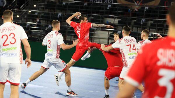 Россия — Белоруссия в матче чемпионата мира по гандболу в Египте