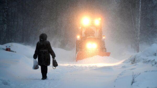 Снегопад в Казани