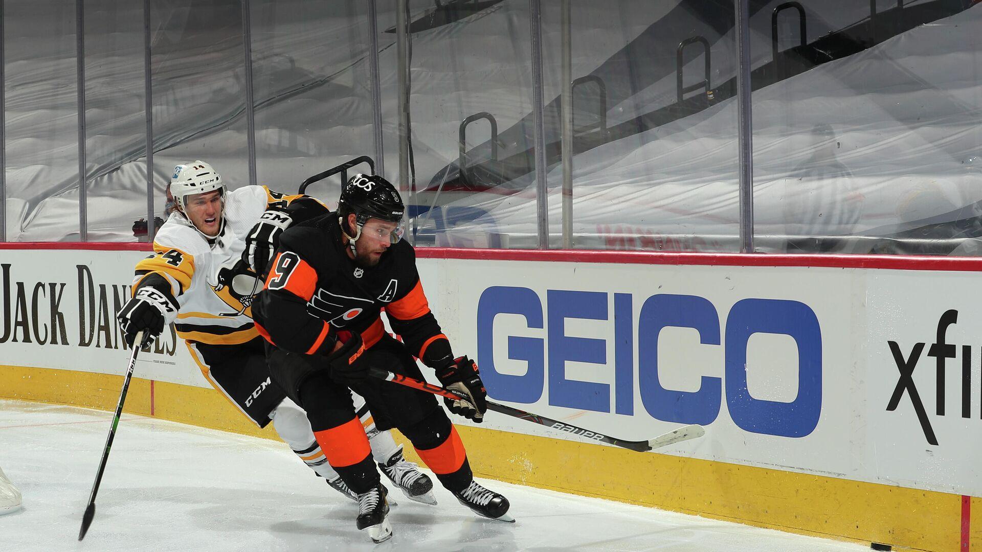 Иван Проворов в матче НХЛ между командами Филадельфия Флайерз и Питтсбург Пингвинз - РИА Новости, 1920, 16.01.2021