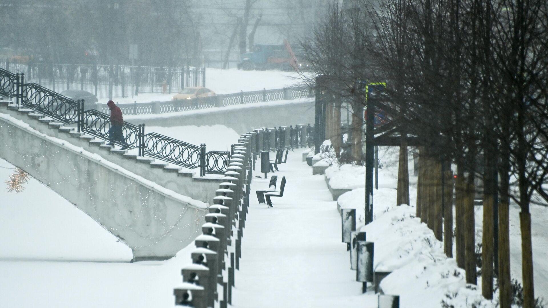 Набережная реки Яузы в Москве - РИА Новости, 1920, 16.01.2021