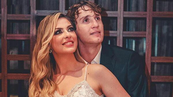 Марио Фернандес со своей женой Марьяне Шотт де Фрейтас