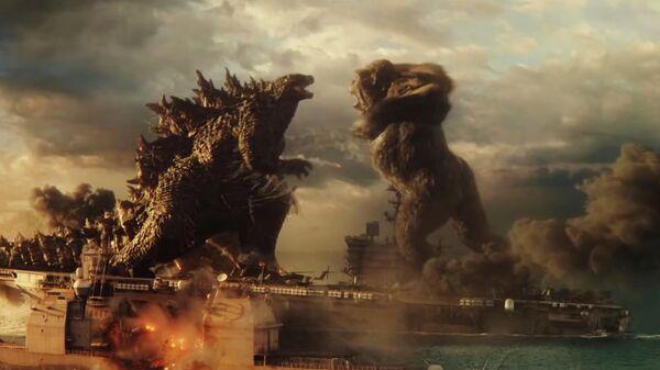 Кадр из трейлера к фильму Годзилла против Конга