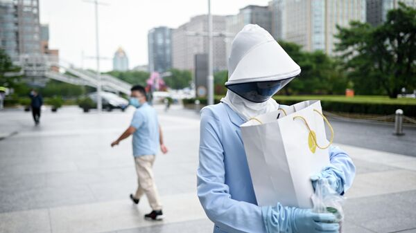 Женщина на улице Пекина