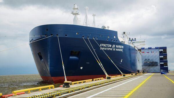 Арктический танкер-газовоз Кристоф де Маржери