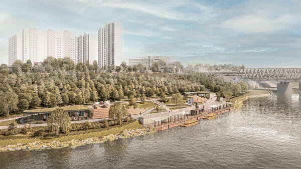 Проект благоустройства набережной Москвы-реки в районе Москворечье-Сабурово