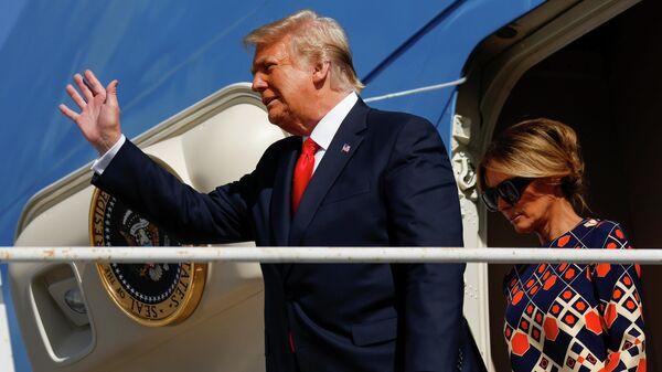 Дональд Трамп прибыл в Уэст Палм Бич, штат Флорида